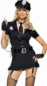 HALLOWEEN COP Police Costume Woman Fancy Dress Cosplay