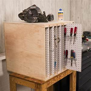 How, To, Build, A, Sliding, Pegboard, Storage, System, Diy