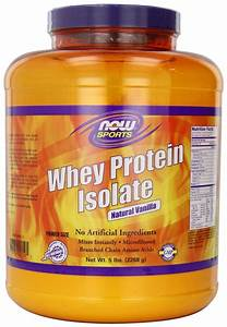 Now Foods Whey Protein Isolate  Vanilla  5-pound Jar
