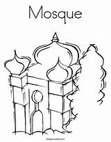 Mosque Coloring Masjid Pages Drawing Temple Getdrawings Print Getcolorings Printable sketch template