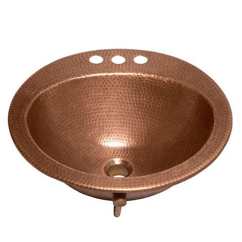 sinkology bell drop  handmade copper bathroom sink
