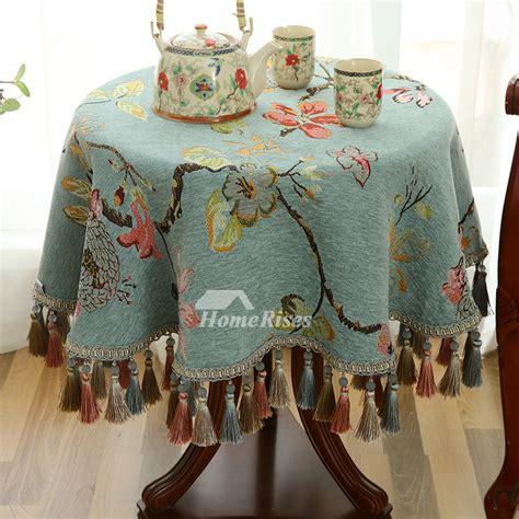 vintage    tablecloth polyester blue wholesale