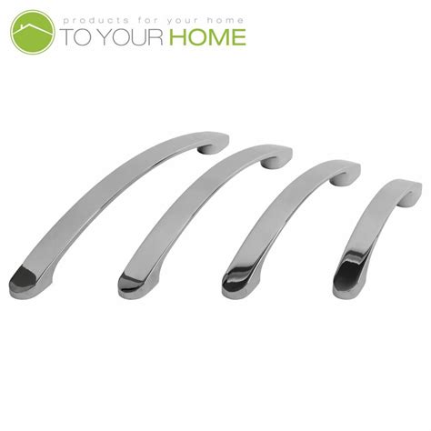 European Kitchen Cabinet Handles by Bowed Chrome Kitchen Cupboard Cabinet Drawer Door Handles