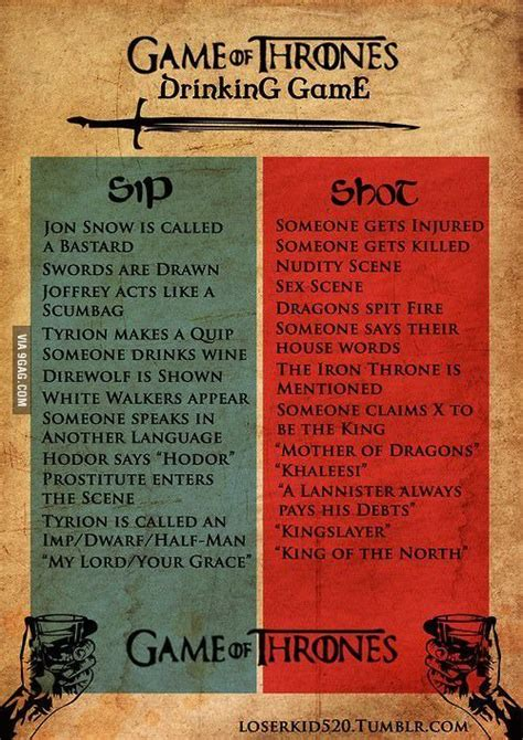 game  thrones drinking game  game  thrones
