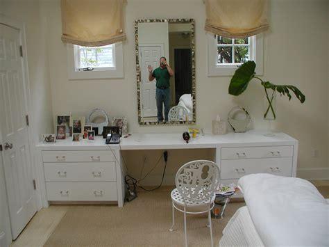 Bedroom Creatively Hide Storage With Nice Makeup Vanity