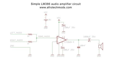 How To Make A Simple 1 Watt Audio Amplifier (lm386 Based