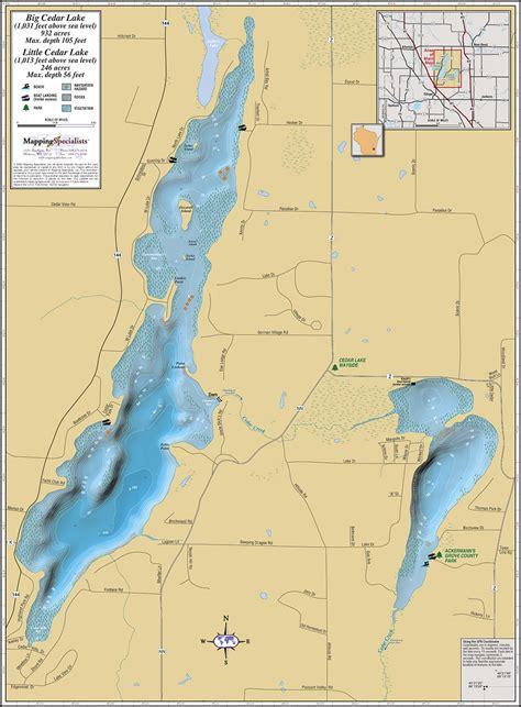 big  cedar lakes wall map