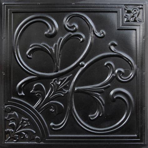 204 faux tin ceiling tile 24x24 black ceiling tile by decorative ceiling tiles inc