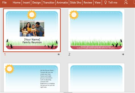 family reunion powerpoint template