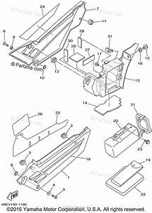 Yamaha Motorcycle 2001 Oem Parts Diagram For Side Cover