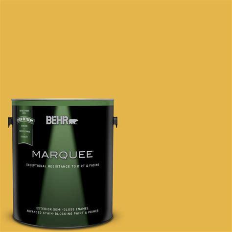 behr marquee 1 gal 360d 6 yellow gold semi gloss enamel