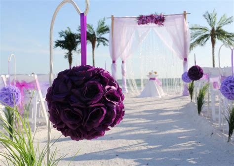 florida beach wedding themes purple  lavendersuncoast