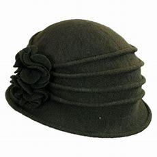 Scala Boiled Wool Cloche Hat Cloche & Flapper Hats