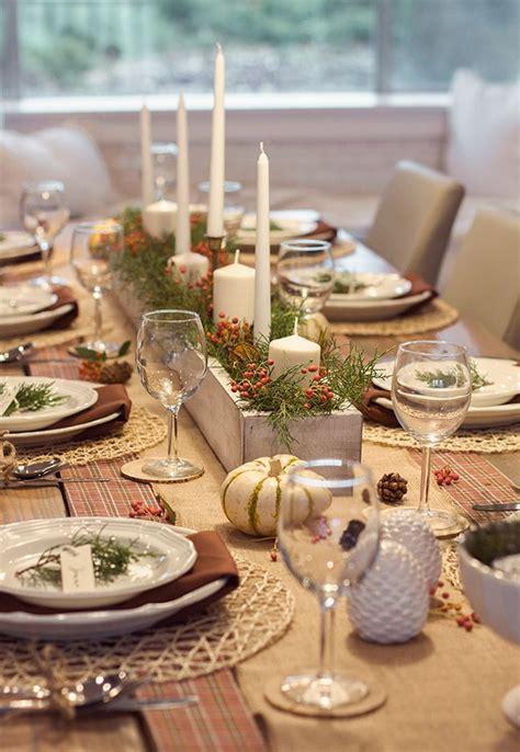 idees deco pour une belle table de noel christmas