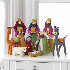 Colorful Fabric Nativity Scene In Cloth  Nova68 Com