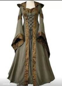 Custom made medieval adult halloween dress with hood A10280