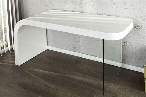 bureau design laqu blanc bureau design blanc laque et verre timmen