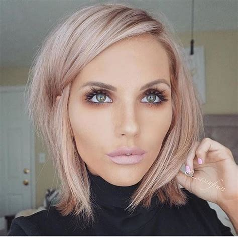 Rose Gold Blond Is Still One Of The Trendiest Hair Colors