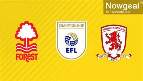 Nottingham Forest VS Middlesbrough Football Preview ...