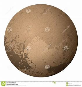 Dwarf Planet Pluto, On White Stock Vector - Image: 57351801