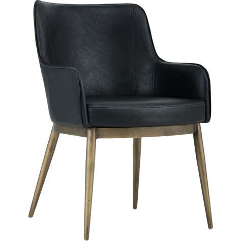 sunpan 102355 franklin dining chair in vintage black