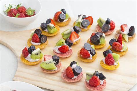 and easy canapes glazed fruit tart recipe made with pastry crust