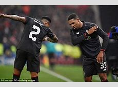 Jordon Ibe and Nathaniel Clyne do the 'Dab' after