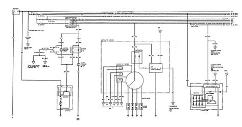 acura integra  wiring diagrams charging system