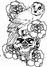 Coloring Skull Preacher Designs Adult sketch template