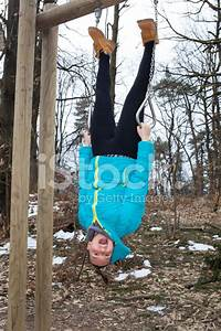 Pretty, Girl, Is, Upside, Down, Dangling, Stock, Photos