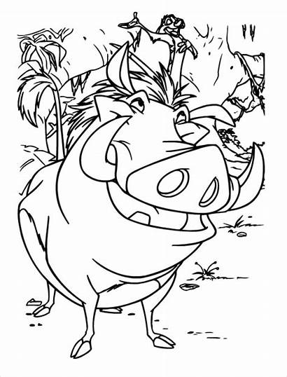 Coloring Lion King Printable Disney Pages Character