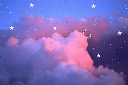 Sky Pink Animated Clouds Heart Hearts