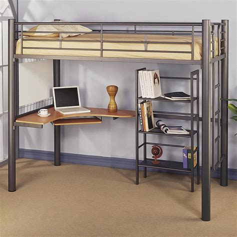 10 Best Loft Bed With Desk Designs by Statuette Of Black Loft Bed With Desk Style Meets