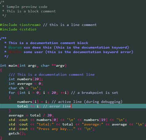 Themes Codes Syntax Highlighting Custom Colour Themes Codeblocks