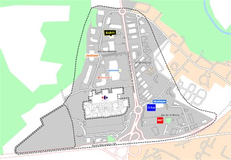 key plans of 171 claye souilly zac des sablons carrefour 187 all details of the commercial site