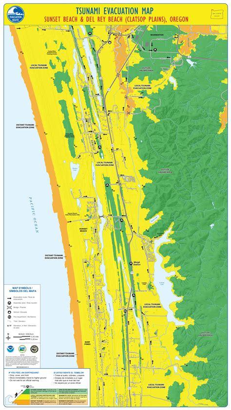 tsunami evacuation maps outline safe routes  oregon