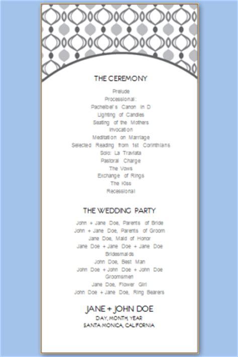 free printable wedding program templates word wedding program templates free printable wedding program templates