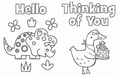 Coloring Printable Cards Thank Highlights Thinking Seniors