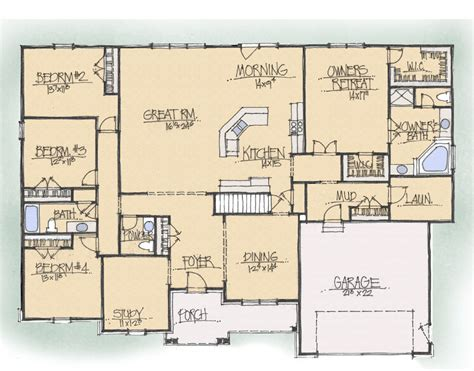 Schumacher Homes Beverly Floor Plan by Schumacher Homes House Plan Detail