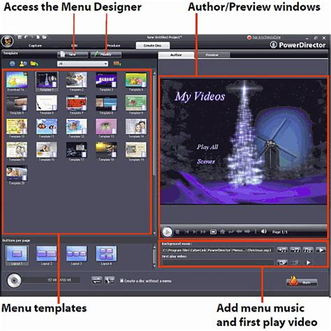 Powerdirector Menu Templates by Powerdirector 7 Is A Editing And Production Software