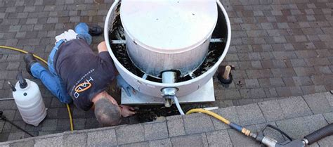 how to clean kitchen exhaust fan mesh omni grease gutter rooftop grease containment system