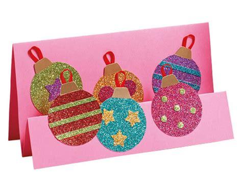 glittery christmas card