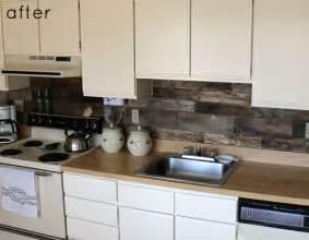kitchen backsplash alternatives before after reclaimed wood kitchen backsplash design sponge