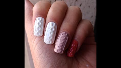 sweater nail sweater nail art with regular nail polish with and without top coat youtube
