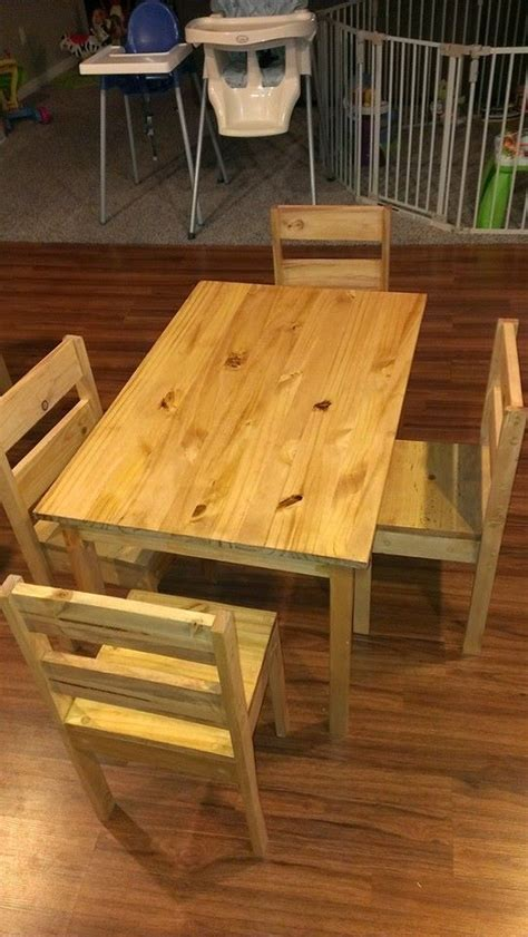 ana white childrens table  chairs diy projects