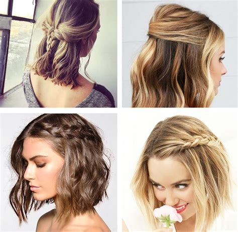 ideias de penteado  cabelo curto  doces ideias