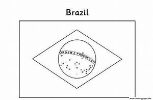 Flag S Brazil Coloring Pages Printable