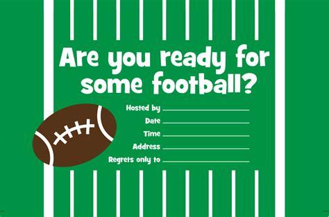 printable invitation football party homegatefever