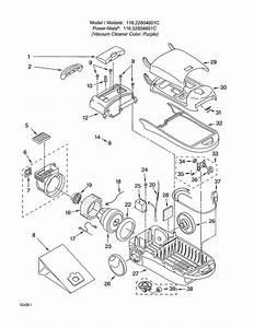 Kenmore Model 11622804601c Vacuum  Canister Genuine Parts