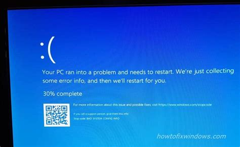 fix bad system config info 0x00000074 bsod in windows 10
